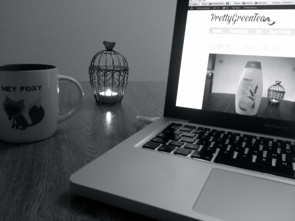 tea and laptop