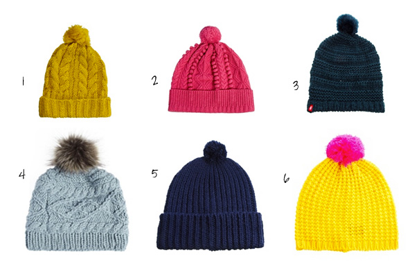 Bobble hats from ASOS