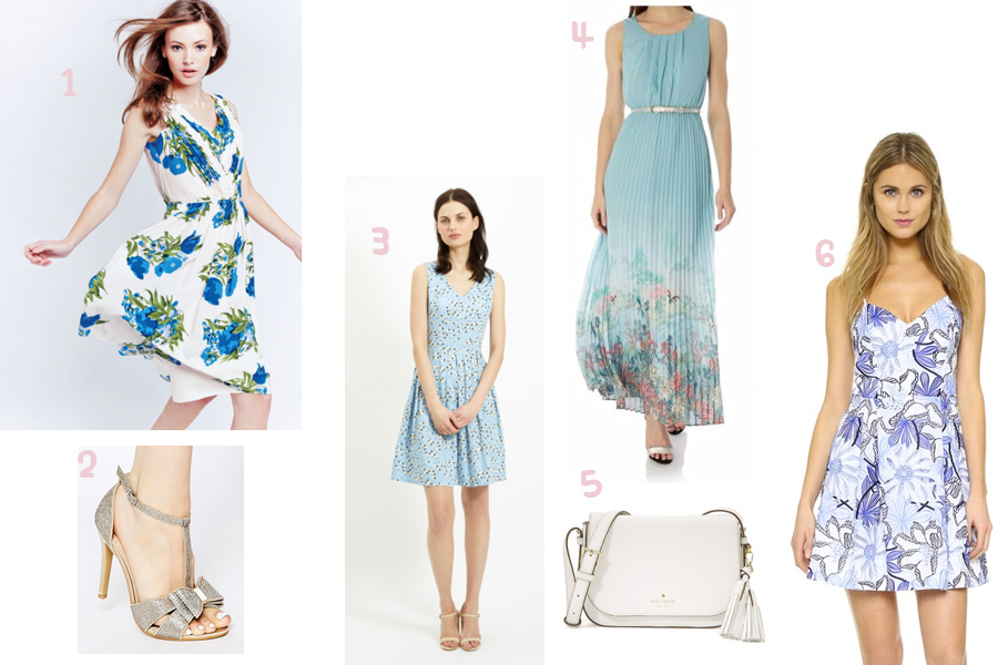 4 Blue dresses for a summer wedding guest | Prettygreentea