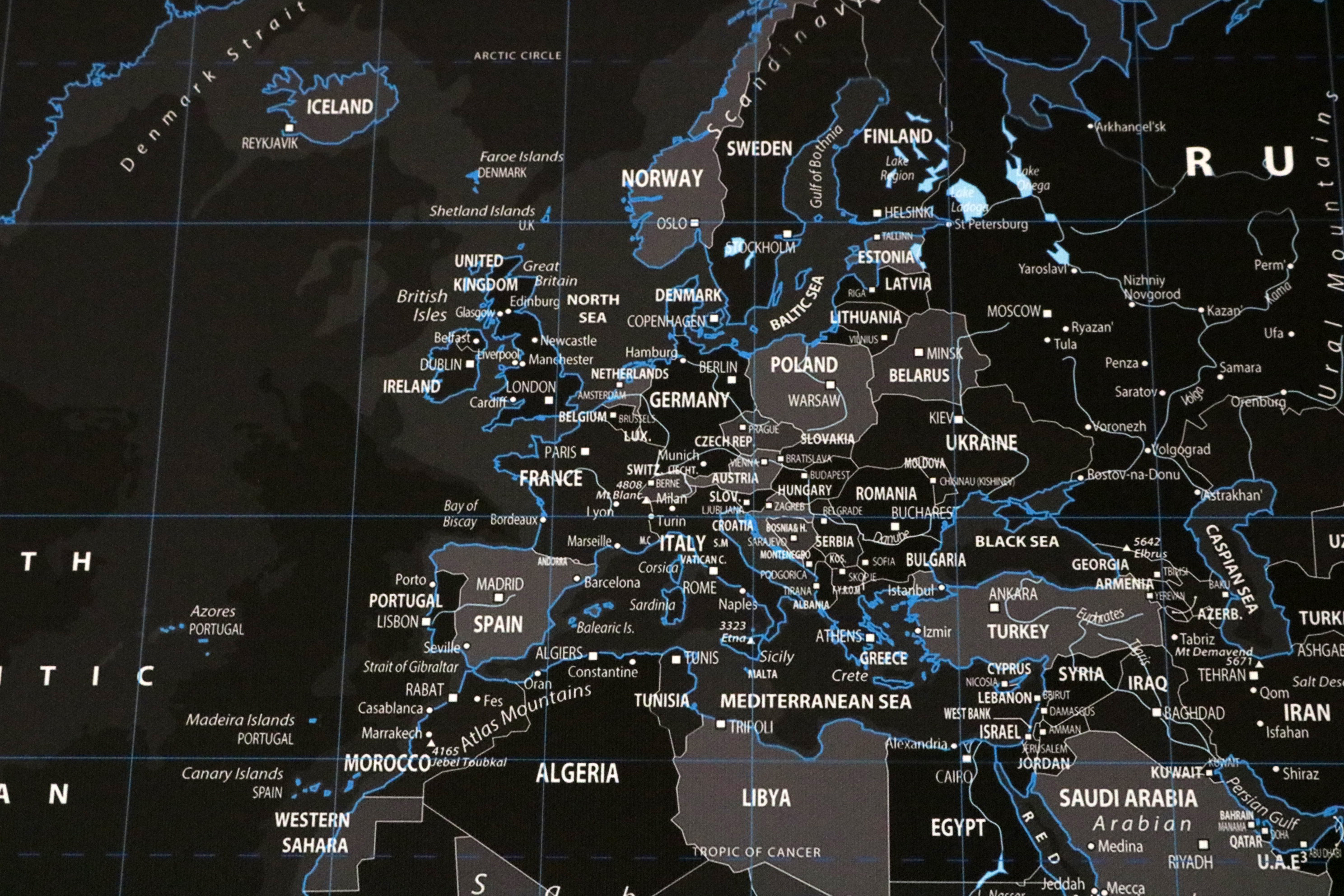 House Home Black Ice World Map Prettygreentea - World map sepia toned